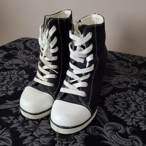 Wedge Converse Style Sneakers